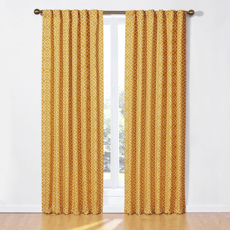 Amazon.com: Waverly 12458050X084MIM Lovely Lattice 50 Inch By 84 Inch  Single Window Curtain Panel, Mimosa: Home U0026 Kitchen
