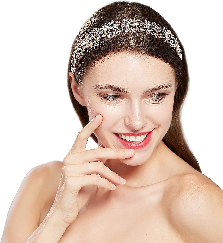 joya para el pelo ArtiDeco parpadeante vintage para novia hecha a mano boda cristal plateada accesorios para fiesta Diadema para novia