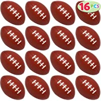 JOYIN 16 Pack Mini Football Foam Stress Balls Toy for Kids Sports Birthday Party Favor, Squeeze Squish Balls, Anxiety Relief, Relaxation, Super Bowl LIII Party and School Classroom Prize