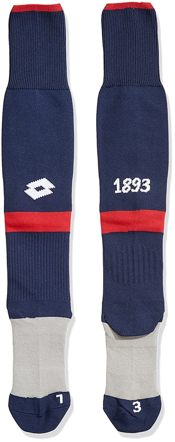 Lotto Sport GE17 Home Sock P, Replica Genoa Unisex – Adulto, Blu, 3 T2121