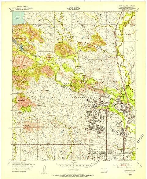 Amazon.com: Oklahoma Maps | 1949 Fort Sill, OK USGS Historical ...