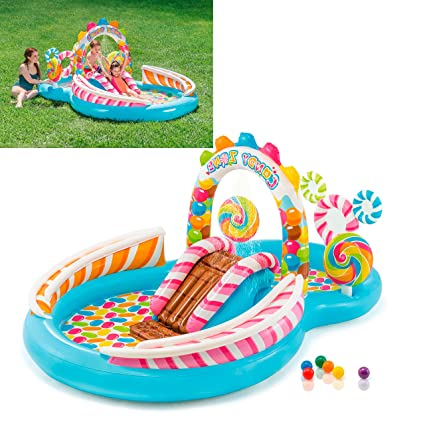 Kids Splash Water Park Inflatable Swimming Pool Float For Kiddie Toddlers With Slide Games Fun