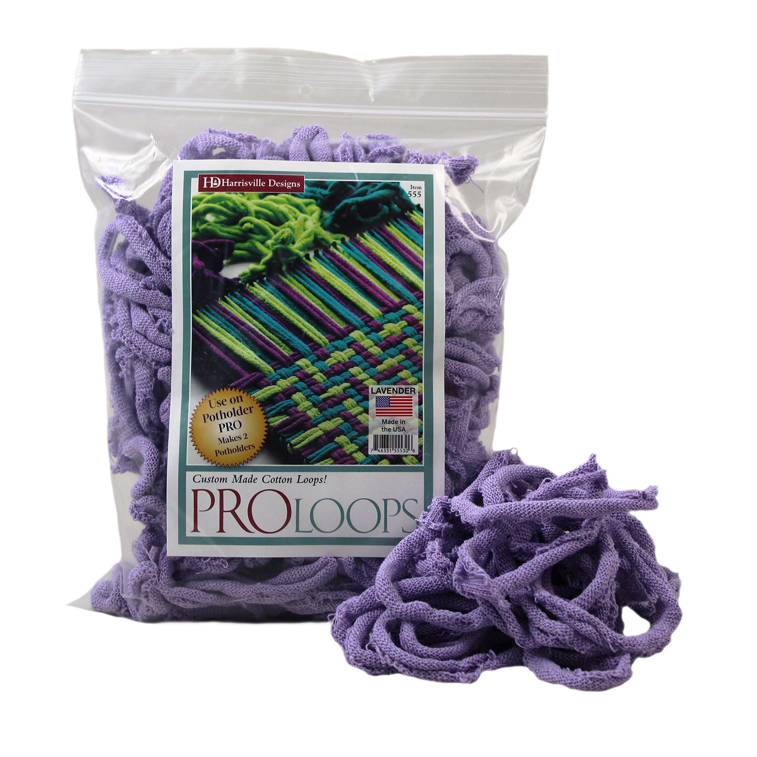 Harrisville Designs PRO 10'' Cotton Loops, Lavender - Makes 2 Potholders
