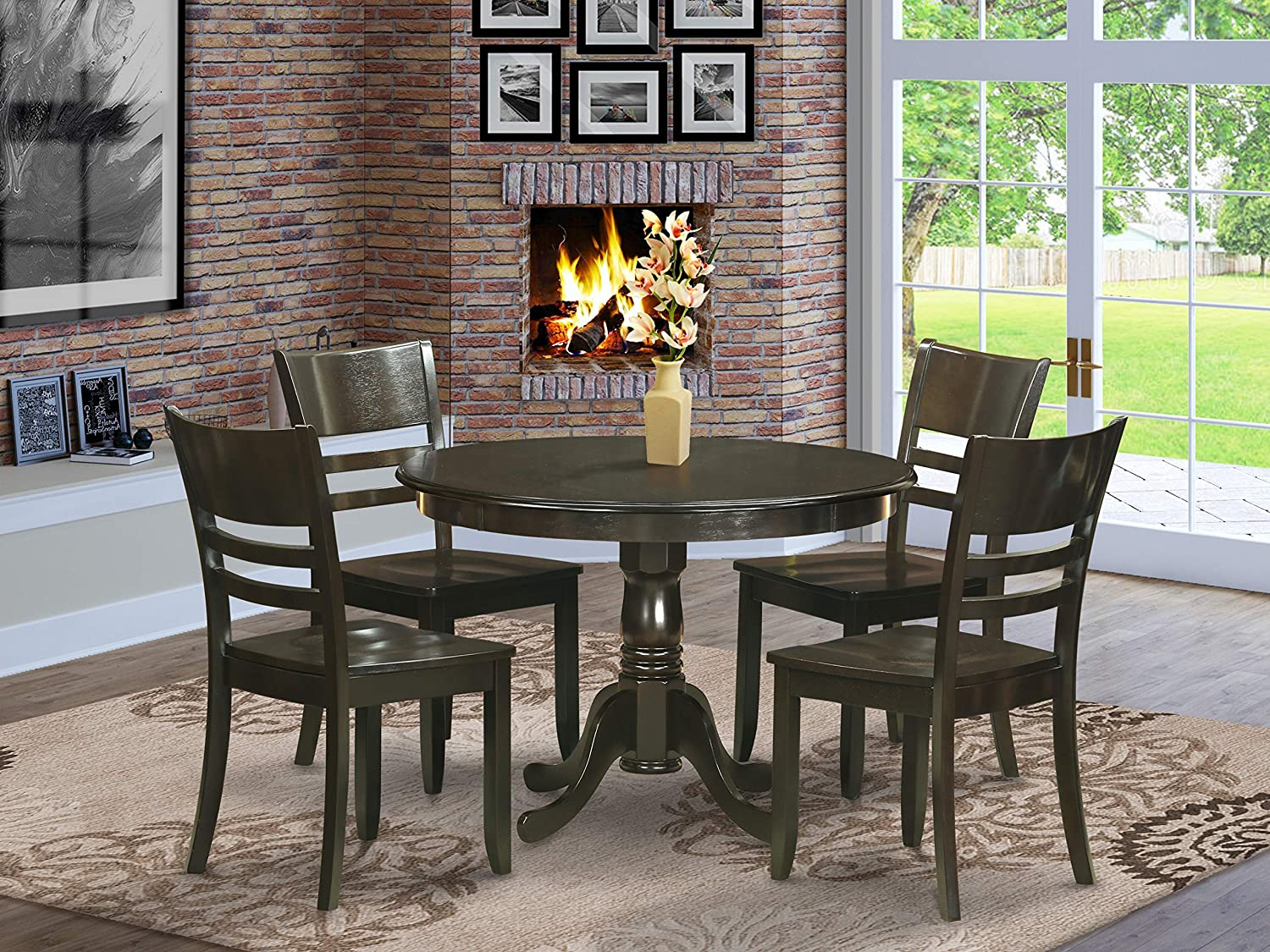 Amazon Com 5 Pc Small Kitchen Table And Chairs Set Dining 4 Dinette Furniture Decor