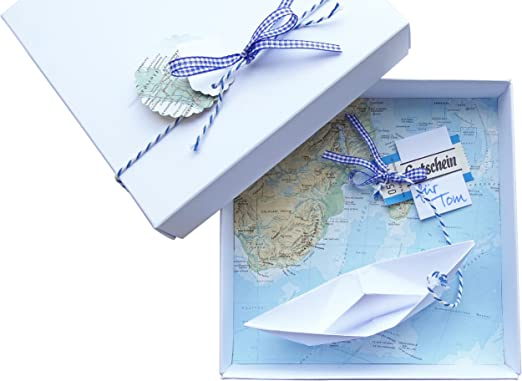 Geldgeschenk Verpackung Reise Gutschein Schiff Für Geburtstag Hochzeit Geld Schenken