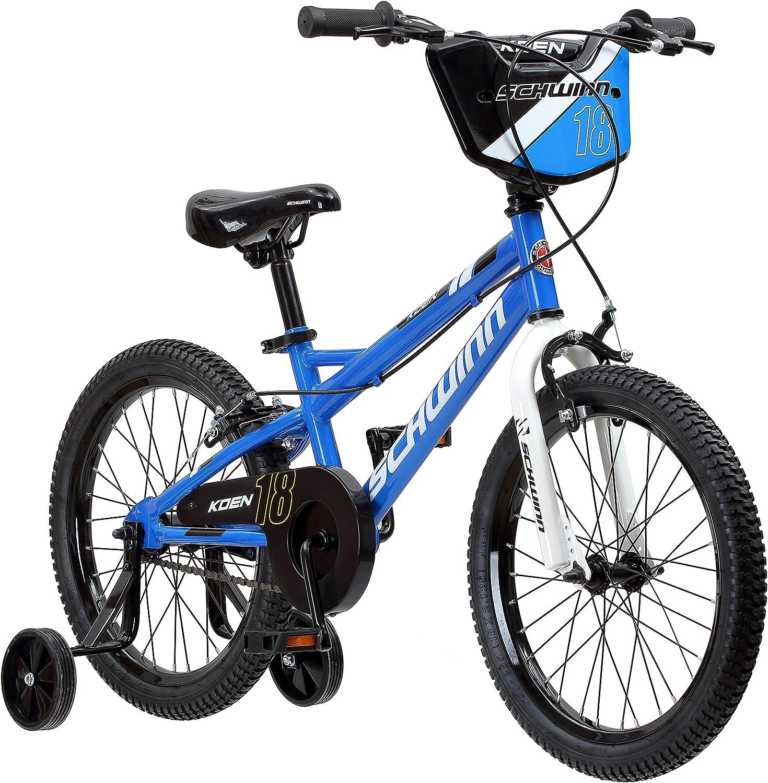 Schwinn Koen Boys Bike for Toddlers and Kids, 18-Inch Wheels, Blue : Sports & Outdoors