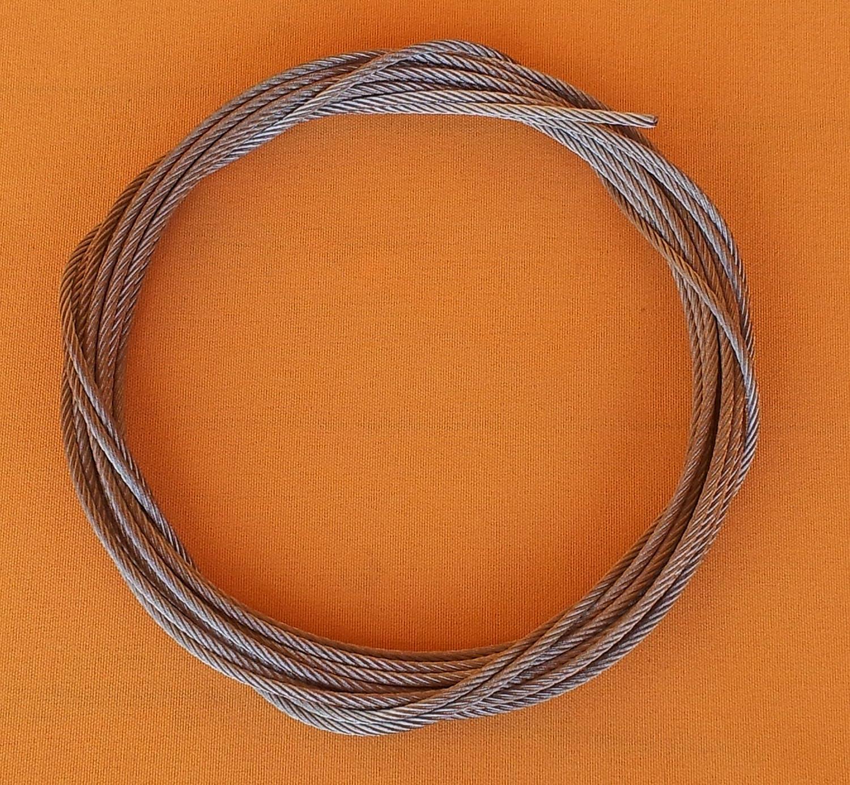 stainless steel wire rope 1 Meter 7x7 halbweich Edelstahlseil /Ø 3mm//L/änge
