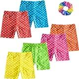ZukoCert Girls' Shorts Colour Dance Shorts Girls Safety Short Breathable Bike Short for Girls Printed Dance Shorts