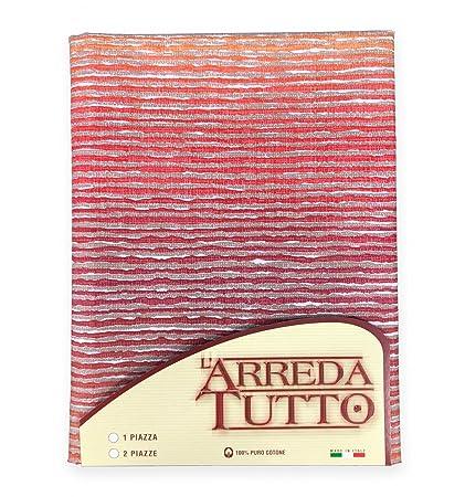 Manta multiusos Rio, colcha para la cama o el sofá de color naranja, gran foulard, 2 plazas