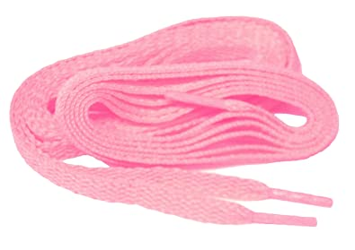 Fashionable Light Baby Girl Pink 8mm Flat Woven proATHLETIC(TM) Shoelaces - 2 Pair Pack (84 Inch 213 cm)