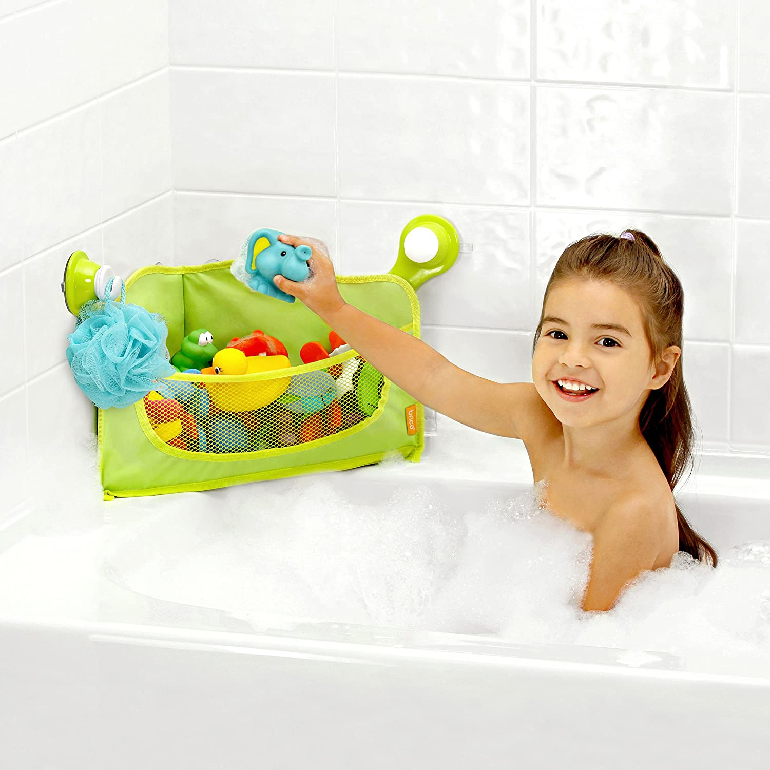 Amazon BRICA Corner Bath Basket Toy Organizer Discontinued