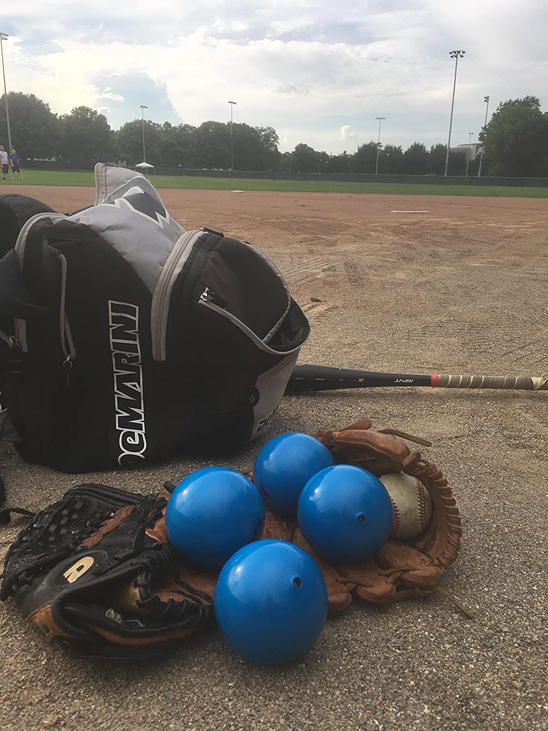 and Weighted Ball Exercise by Probo Sports Pitching Training Softball and Baseball Training Equipment for Batting Practice Power-Thru Weighted Baseballs 6 Pack
