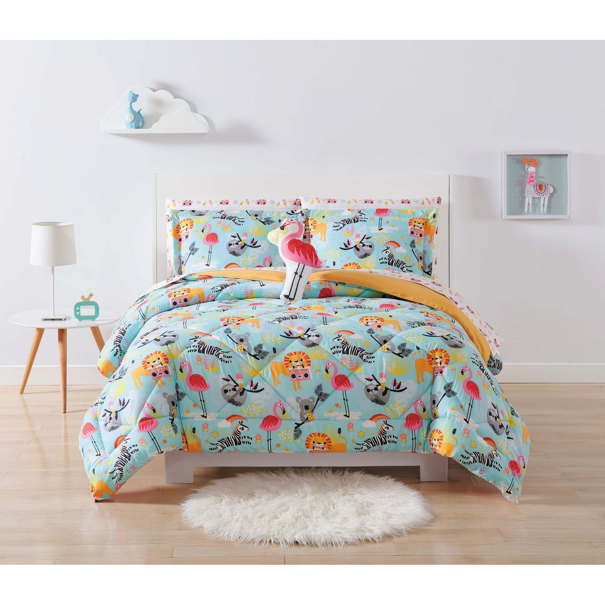 Laura Hart Kids Comforter Set, Full/Queen, Party Animals
