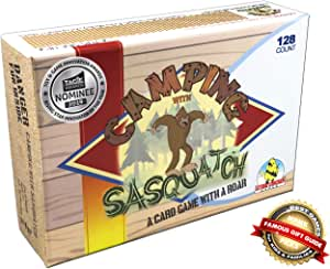 Lethal Chicken Games: Camping with Sasquatch -a Rummy meets Slapjack 128-count family card game with a ROAR!