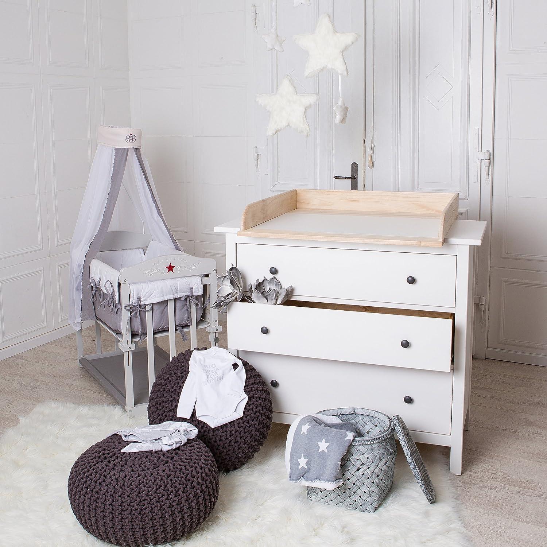 ¡Madera natural! Cambiador superior adecuado para todas las cómodas Hemnes de IKEA PuckDaddy