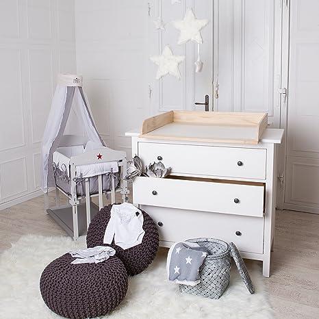 ¡Madera natural! Cambiador superior adecuado para todas las cómodas Hemnes de IKEA