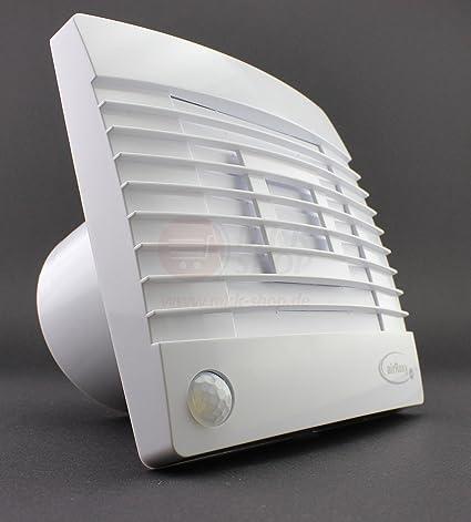 Baño Ventilador persiana (150 mm de diámetro/Láminas con detector de movimiento/detector