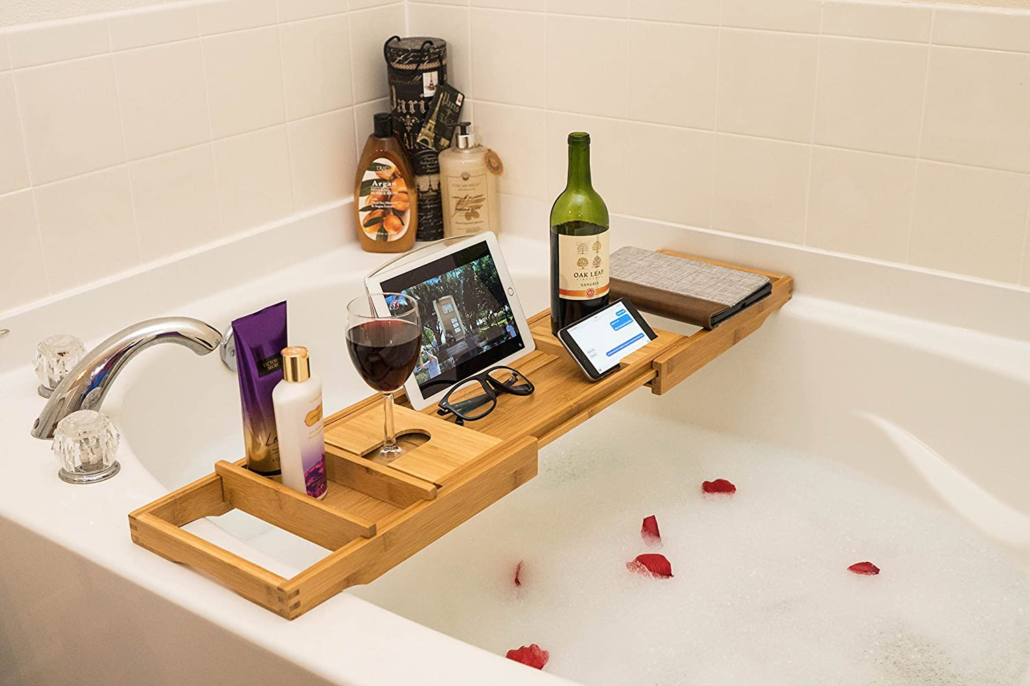 Bamboo Bathtub Tray (Expands up to 43 inches)