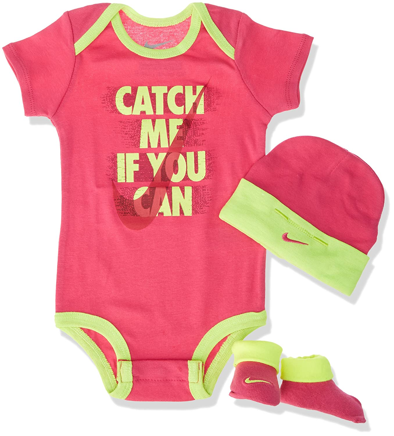 0-6 Monate rosa Nike Catch Me If You Can Baby Body Set
