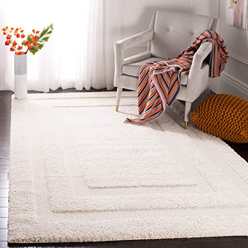 Safavieh Willow Shag Collection and Area Rug, 6 x 9 , Cr me