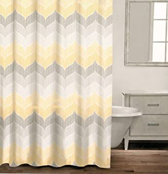 Amazon.com: Caro Home 100% Cotton Shower Curtain Wide Stripes ...
