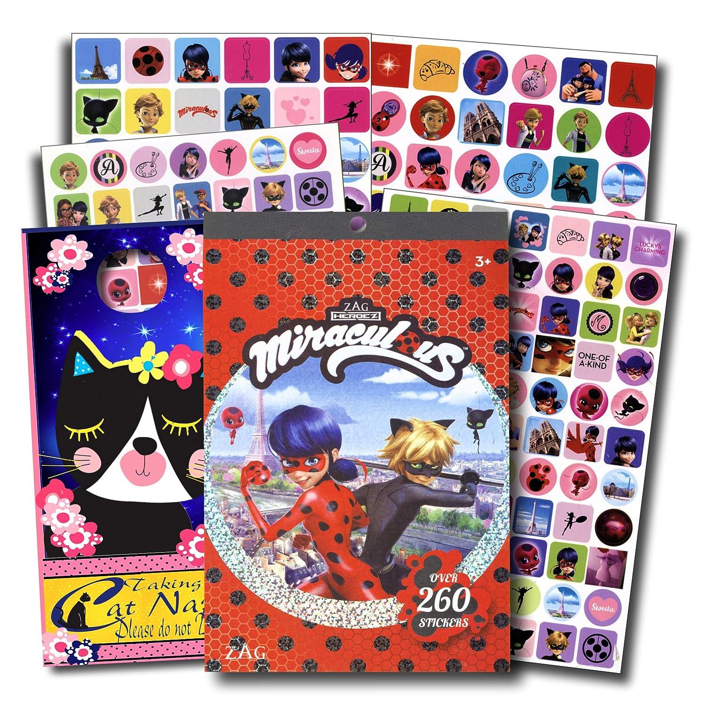 Miraculous Ladybug Stickers Over 260 Stickers Bundled with Specialty Door Hanger