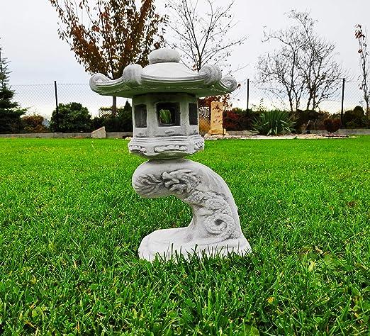 Pagoda Japonesa de Piedra, Linterna Lectura pequeña Estatua Adorno de jardín: Amazon.es: Jardín