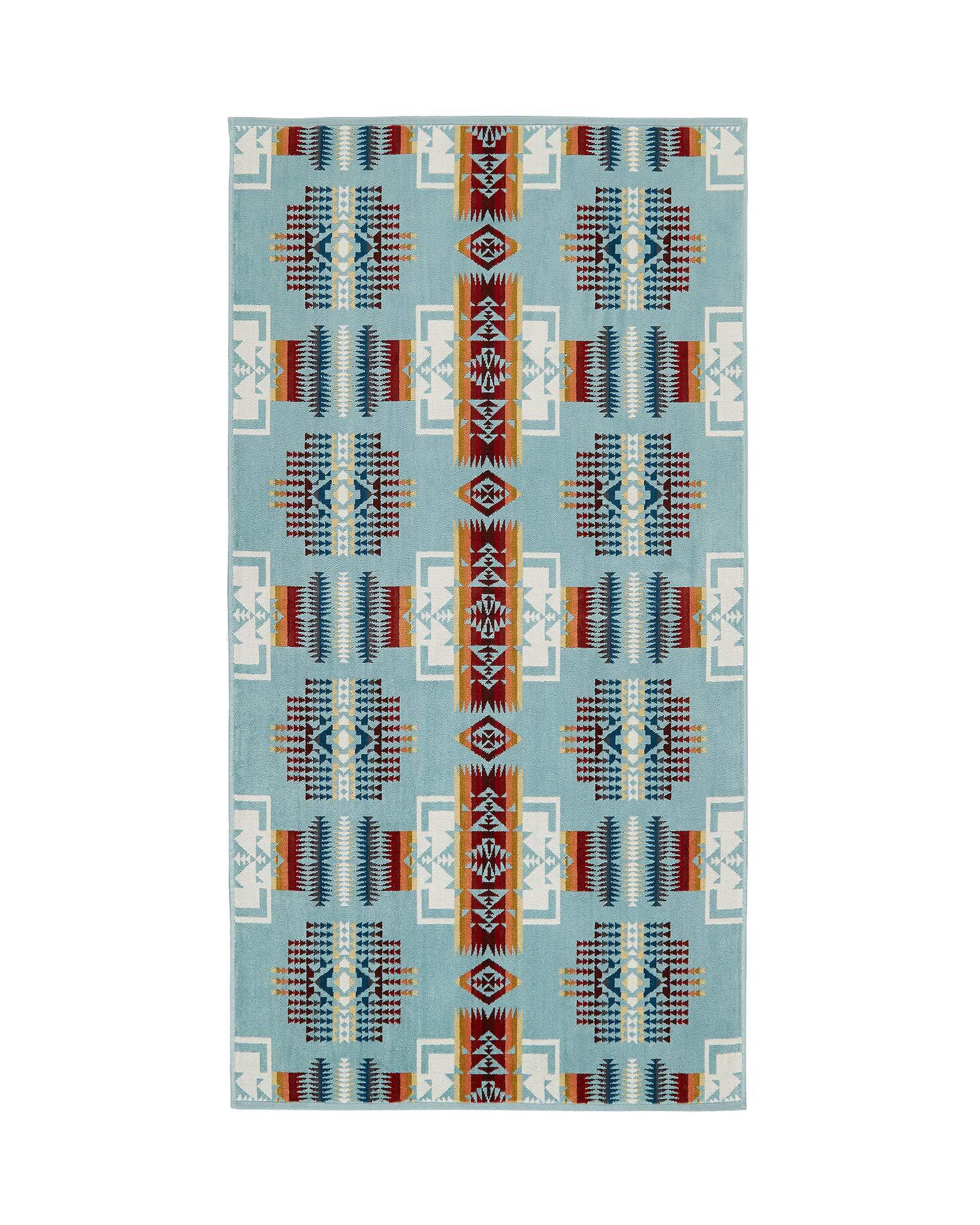 Pendleton Chief Joseph Wool Bath Towel, Aqua, One Size