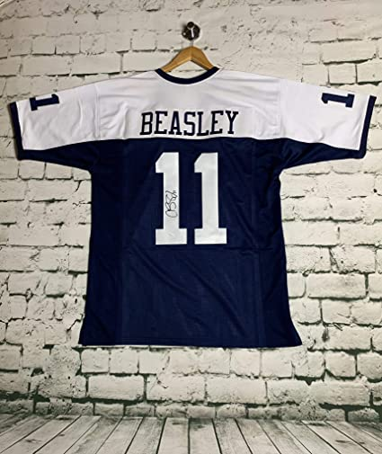 a37e4591fae Image Unavailable. Image not available for. Color: Cole Beasley #11  Autographed Pro Thanksgiving Style Dallas Cowboys Football Jersey ...
