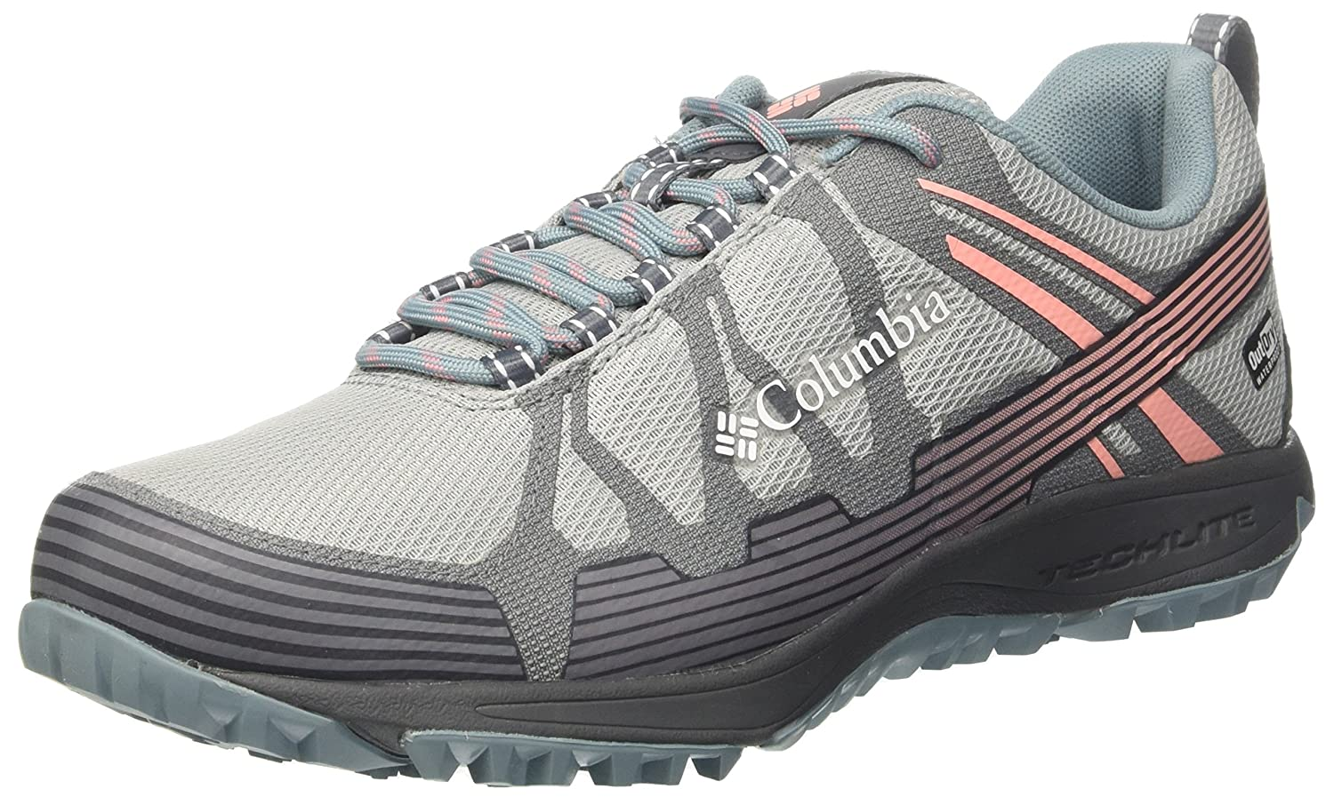 Columbia Femme Chaussures Multisport, Imperméable, Conspiracy V, Gris (Earl Grey, Sorbet), Pointure : 39.5