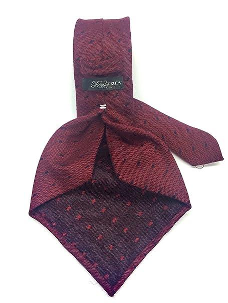 Real Luxury Napoli Corbata de 7 pliegues de cashmere, fondo de ...