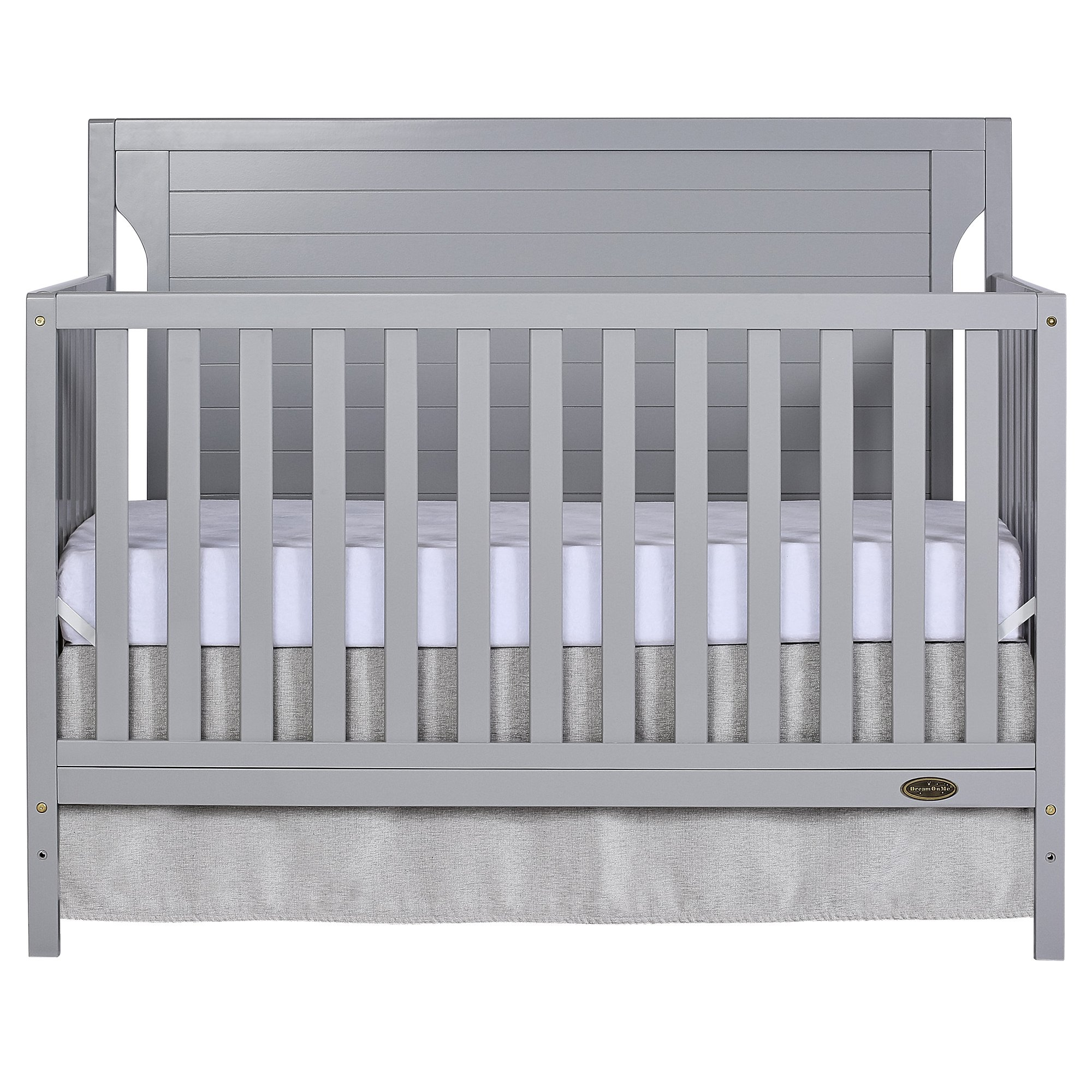Dream On Me Cape Cod 5 in 1 Convertible Crib in Pebble Grey by Dream On Me