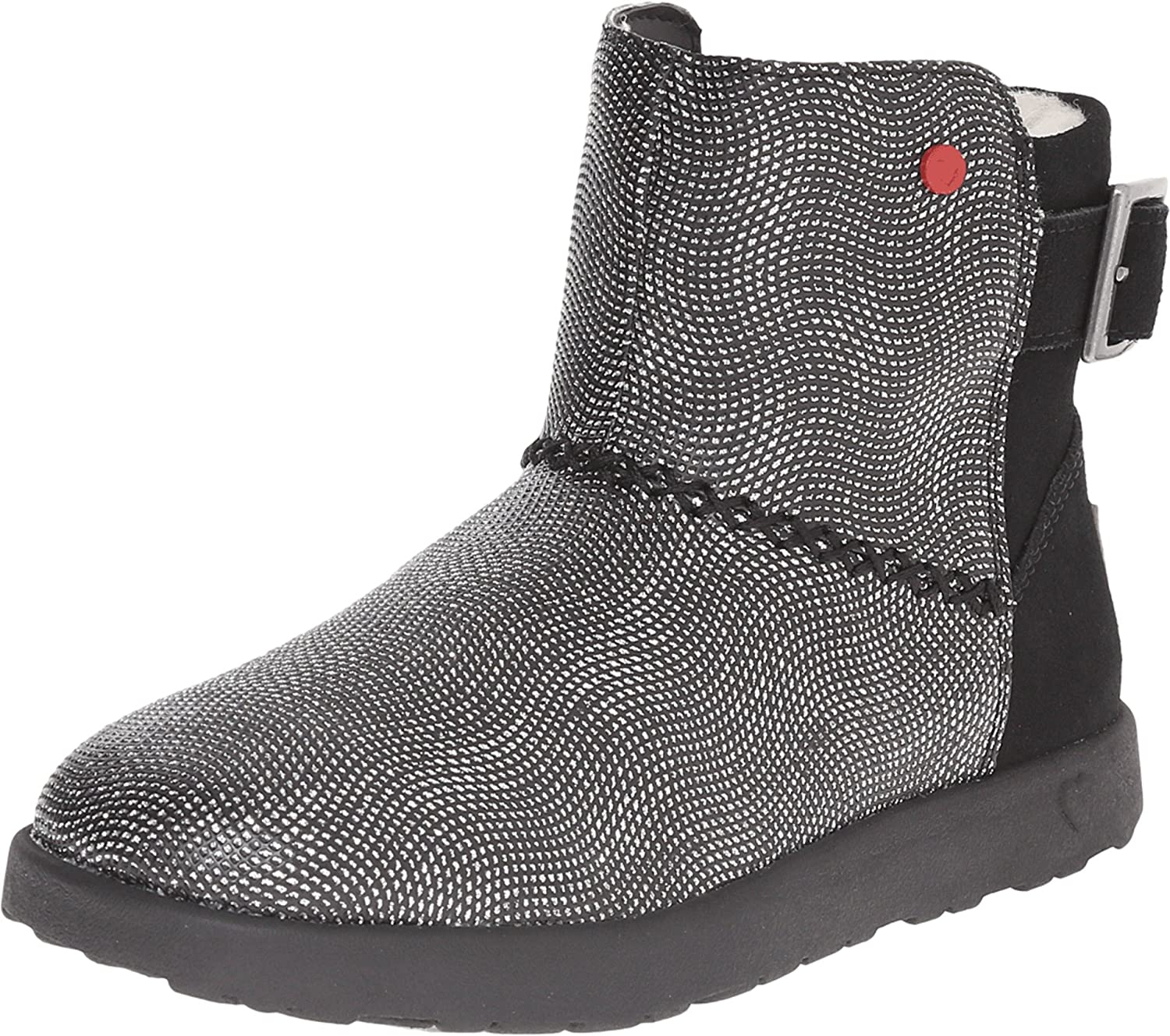 84a2657cb65 Amazon.com: UGG Kids Girl's IVY Geometric (Little Kid/Big Kid) Black ...