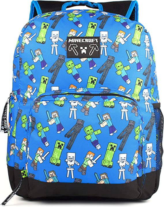 Blue Minecraft Backpack