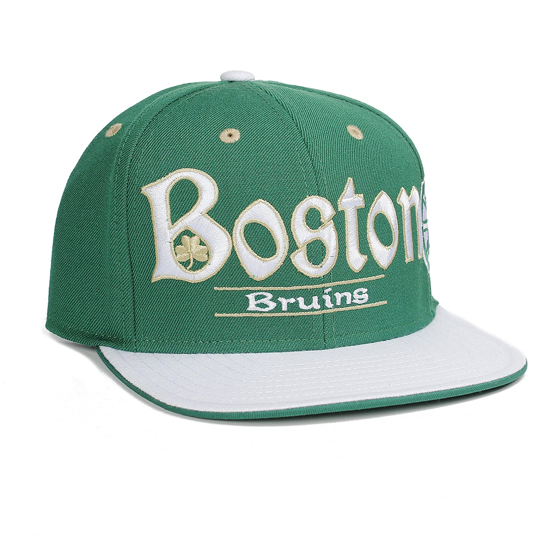 online retailer 03bca 682b4 Amazon.com   Reebok NHL Boston Bruins Celtic Letters Special Editions Snapback  Hat Cap   Sports   Outdoors