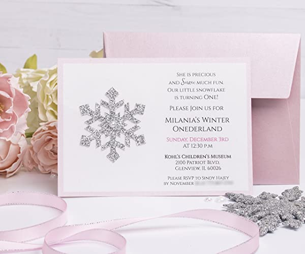 Amazoncom Winter Wonderland Invitations with Envelopes Girl First