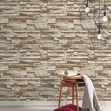 Roommates Stacked Stone Peel And Stick Wallpaper