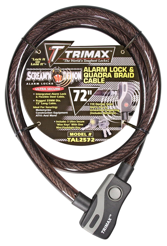 Trimax TAL2572 6 x 25 mm Alarm Lock and Quadra-Braid Cable