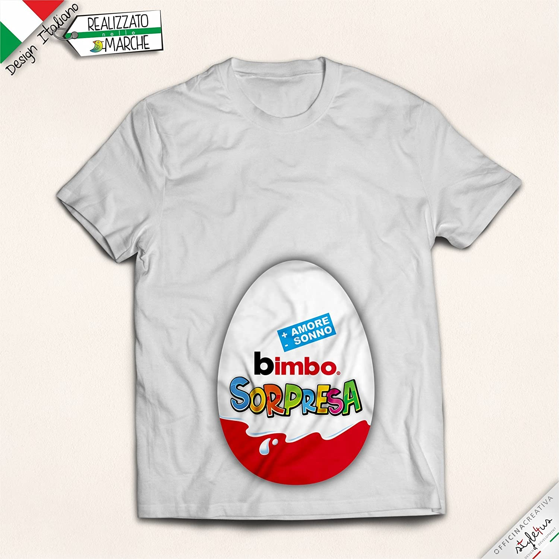 T-shirt donna incinta bimbo sorpresa