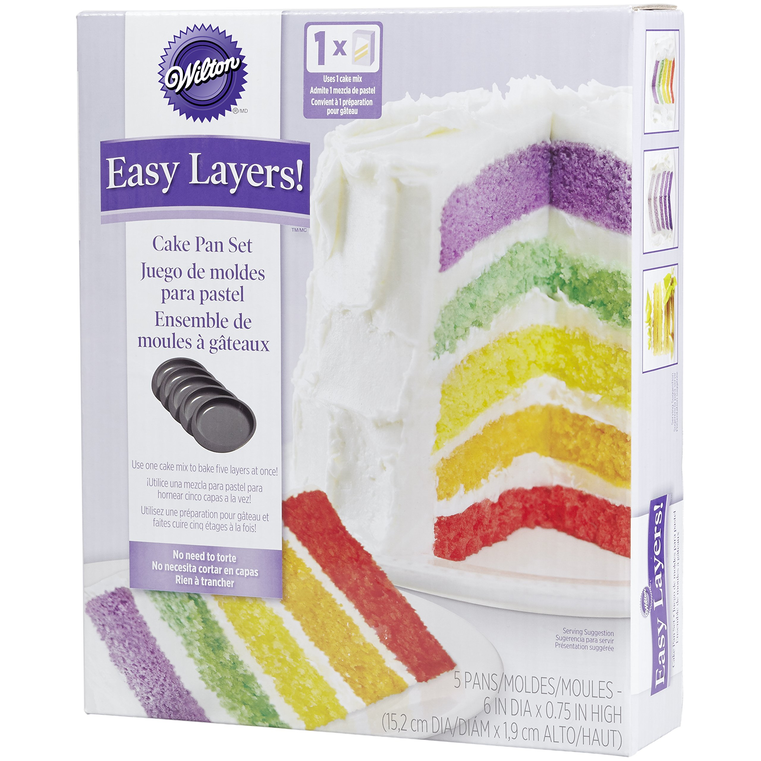 Wilton 2105-0112 Easy Layers! 6 Inch (Set of 5) by Wilton (Image #3)