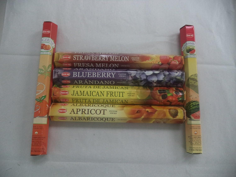 Hem Fruitさまざまなお香セット6 x 20 = 120 Sticksさまざまなギフトパック   B00KBYVYSW