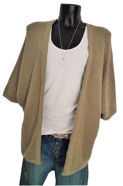 Fashion Trend Mode Knitwear oversize Ponchocardigan Cardigan Weste Strickcardigan camel caramel M 38 40 42 boho casual