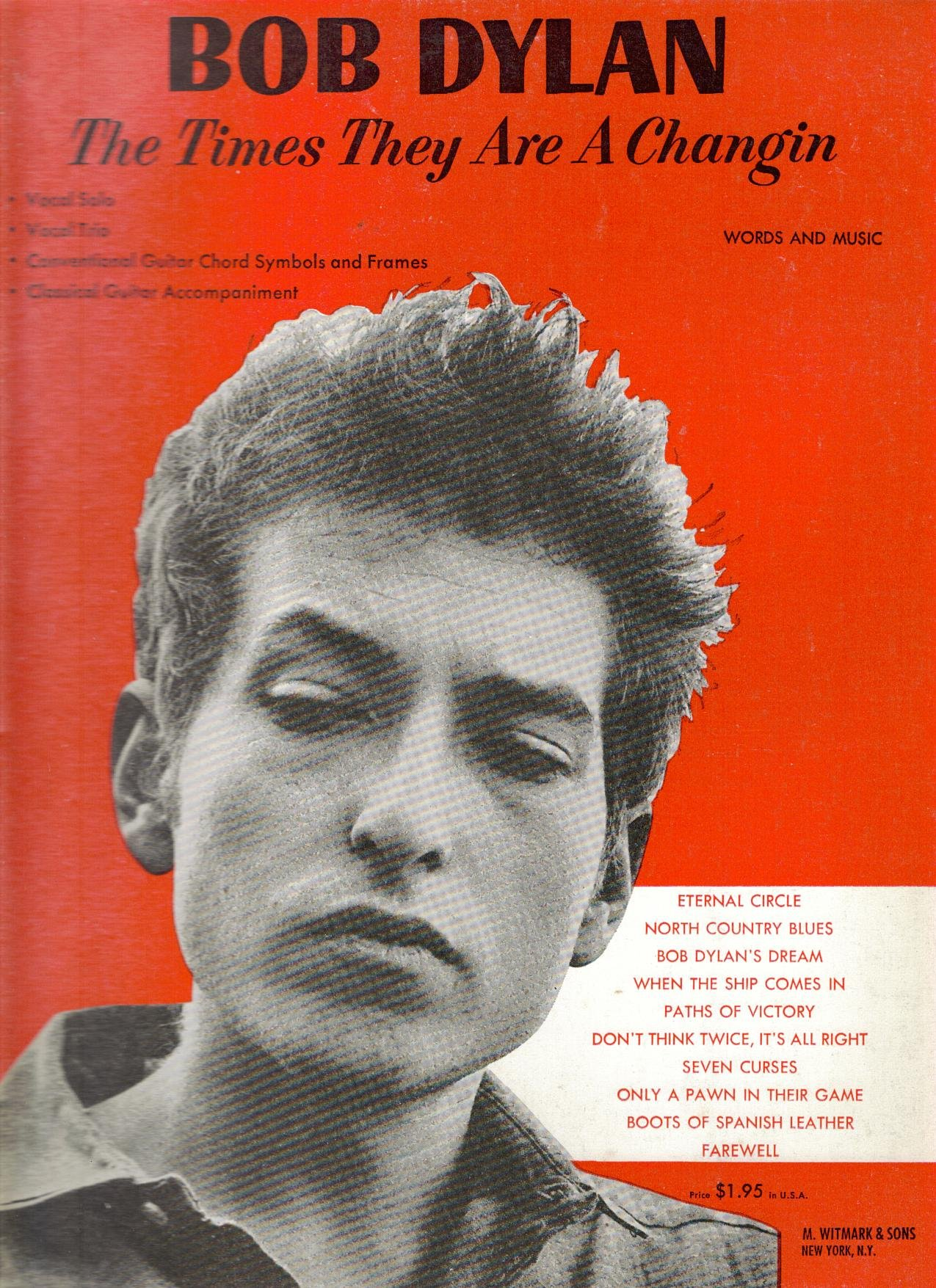 Bob dylan the times they are a changin words music jerry sears bob dylan the times they are a changin words music jerry sears bob dylan amazon books hexwebz Images
