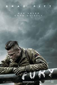 "Fury Movie Poster (24 x 36"") (Thick) Brad Pitt, Shia Labeouf, Michael Pena, Scott Eastwood"