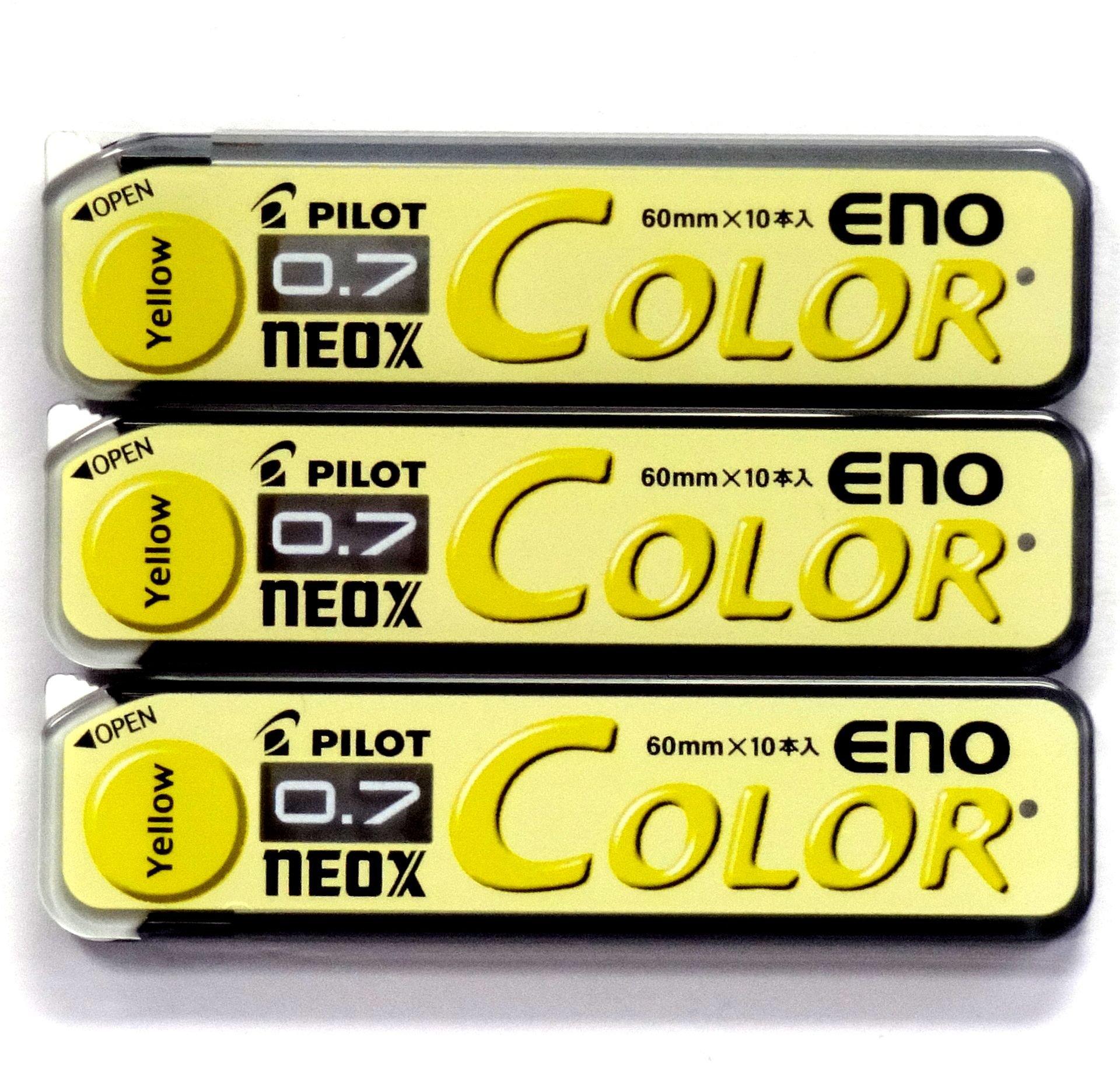 Pilot Neox 30 Minas (3 Tubos) 0.7mm  Amarillo