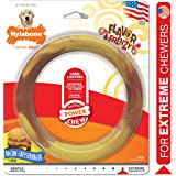 Nylabone Power Chew Smooth Ring Dog Chew Toy Bacon Cheeseburger Flavor Giant - Up to 50 lbs.