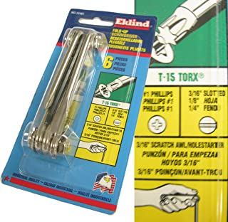 product image for Eklind EKL22461 6 Piece Foldup Screwdriver/Hex Key/Torx Set NOS USA
