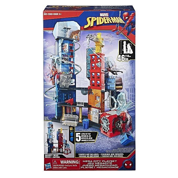 d45d45e858e12 Amazon.com: Marvel Spider-Man Mega City Playset: Hasbro: Toys & Games