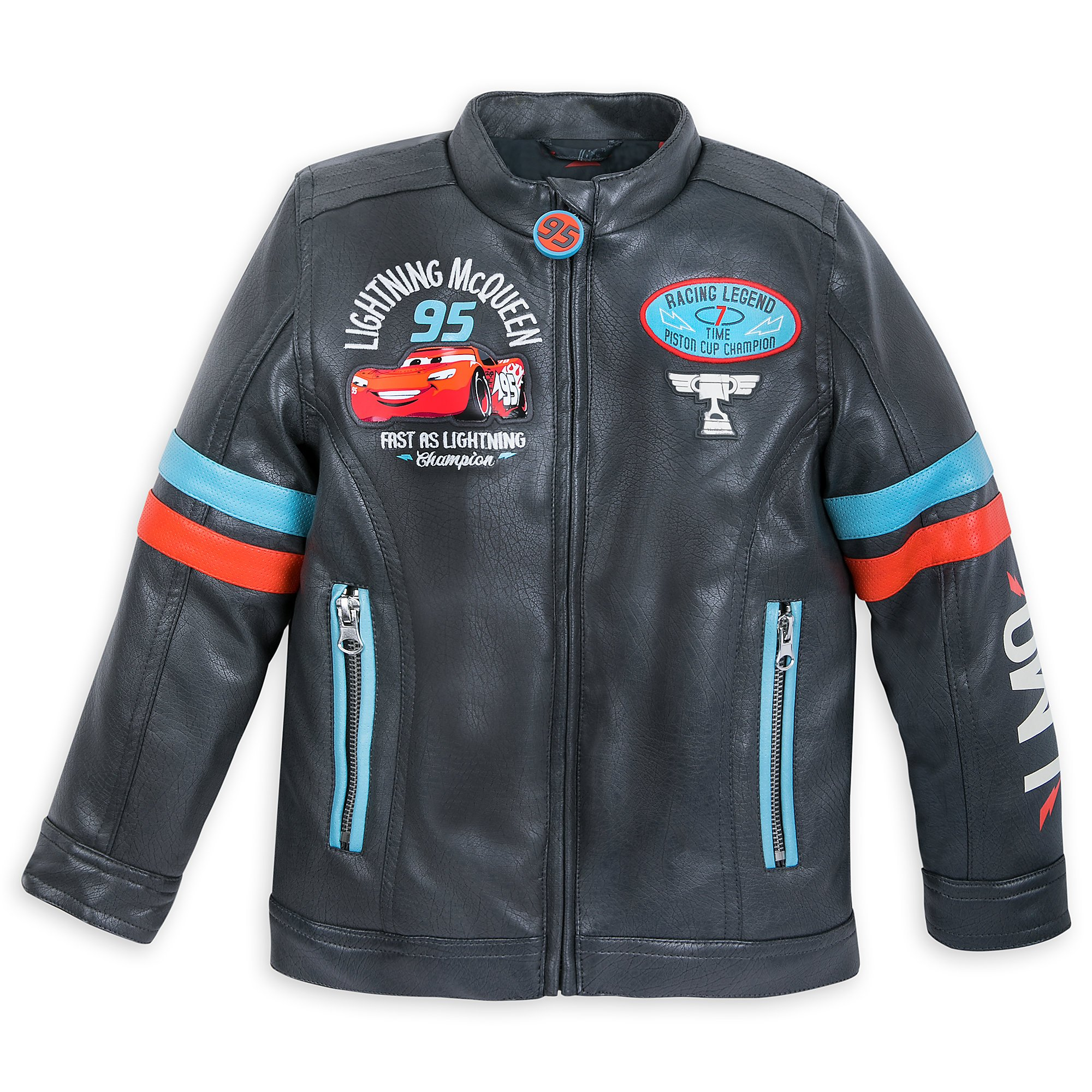 Disney Lightning McQueen Faux Leather Jacket for Boys Size 5/6 Multi by Disney