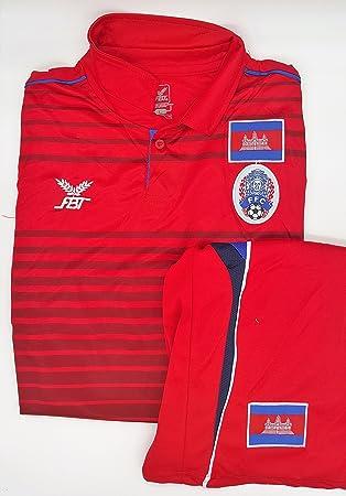 Stt-shirt + de Camboya diseño de equipos de Fútbol camiseta de fútbol para hombre